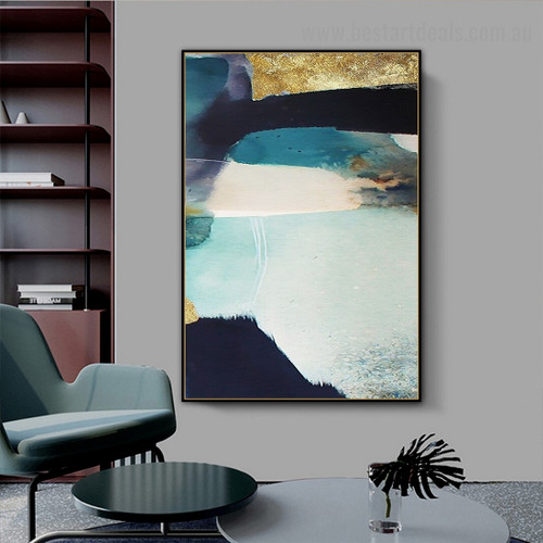 Colorful Texture Abstract Scandinavian Framed Portrait Painting Canvas Print for Room Wall Drape