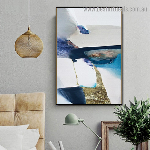 Multicolored Marble Abstract Scandinavian Framed Artwork Image Canvas Print for Room Wall Garniture