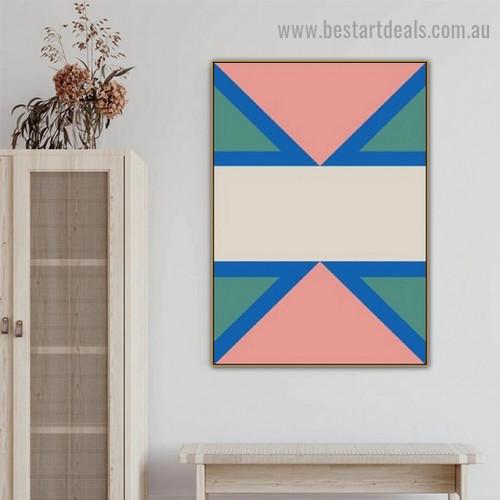 Triangular Design Abstract Geometric Modern Framed Artwork Photo Canvas Print for Room Wall Ornament