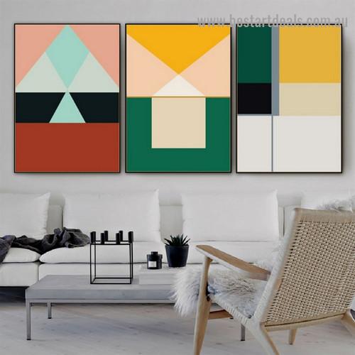Dapple Geometrical Design Abstract Modern Framed Portrait Image Canvas Print for Room Wall Decor
