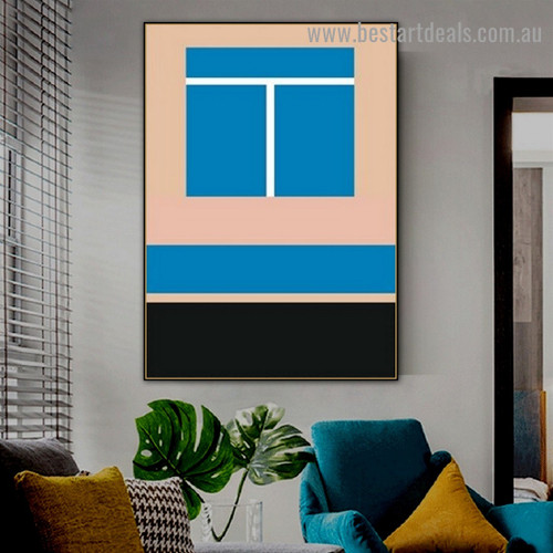 Two Boxes Abstract Geometric Modern Framed Artwork Photo Canvas Print for Room Wall Garnish