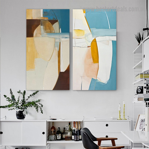 Taint Pattern Abstract Modern Framed Portrait Picture Canvas Print for Room Wall Ornament