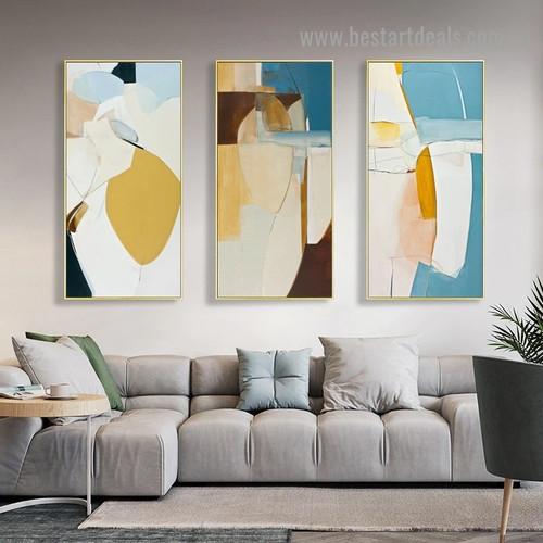 Splotch Creation Abstract Modern Framed Artwork Image Canvas Print for Room Wall Drape