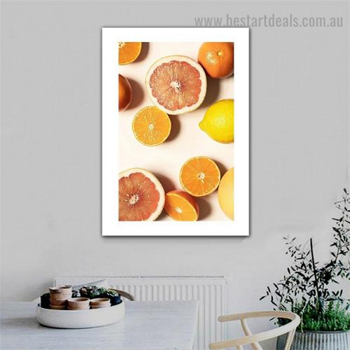 Fresh Citrus Food and Beverage Modern Framed Artwork Photo Canvas Print for Room Wall Garniture