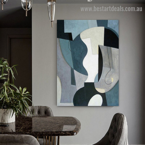 Smirches Abstract Modern Framed Artwork Image Canvas Print for Room Wall Ornament