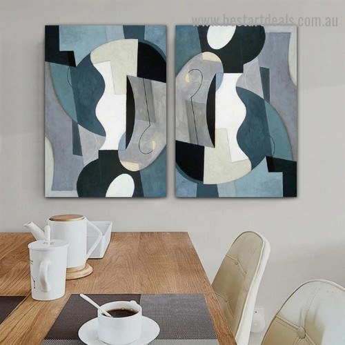Blots Abstract Modern Framed Portrait Photo Canvas Print for Room Wall Decoration