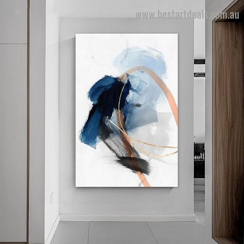 Colorful Attaints Abstract Modern Framed Portrait Image Canvas Print for Room Wall Ornament