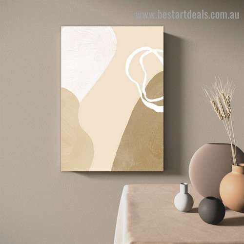 Blemishes Abstract Scandinavian Framed Portrait Photo Canvas Print for Room Wall Garnish