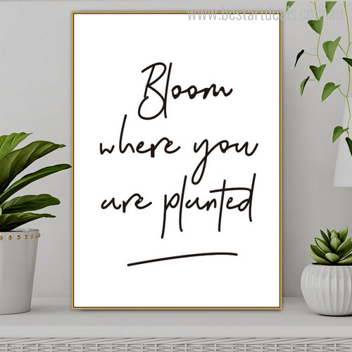 Planted Modern Quotes Canvas Art Print for Room Wall Getup