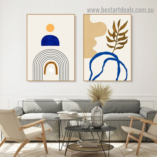 Helicoid Pattern Abstract Scandinavian Framed Artwork Image Canvas Print for Room Wall Drape