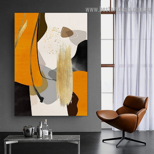 Flaw and Line Abstract Modern Framed Portrait Image Canvas Print for Room Wall Ornament