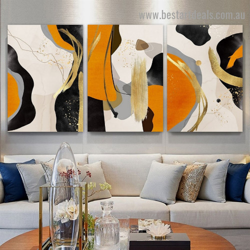 Colorful Speckles Abstract Modern Framed Artwork Picture Canvas Print for Room Wall Garniture