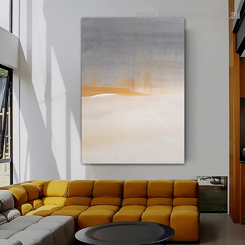 Smears Abstract Scandinavian Framed Portrait Picture Canvas Print for Room Wall Decoration