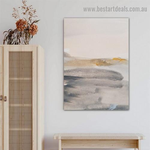 Dapple Smudges Abstract Scandinavian Framed Artwork Photo Canvas Print for Room Wall Drape