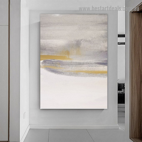 Smirches Abstract Scandinavian Framed Portrait Painting Canvas Print for Room Wall Flourish