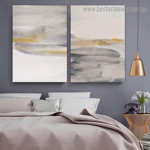 Varicolored Blots Abstract Scandinavian Framed Artwork Photo Canvas Print for Room Wall Garnish