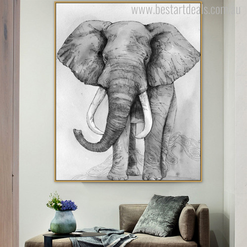 Jumbo Abstract Animal Contemporary Painting Print for Home Wall Getup