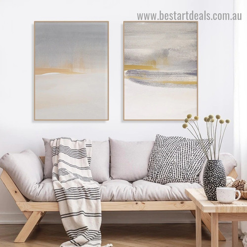 Patchy Blemish Abstract Scandinavian Framed Portrait Picture Canvas Print for Room Wall Decoration