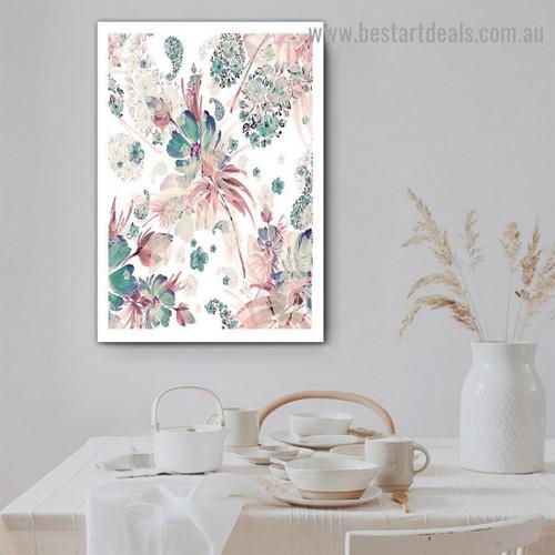 Colorful Blooms Botanical Modern Framed Artwork Photo Canvas Print for Room Wall Garnish