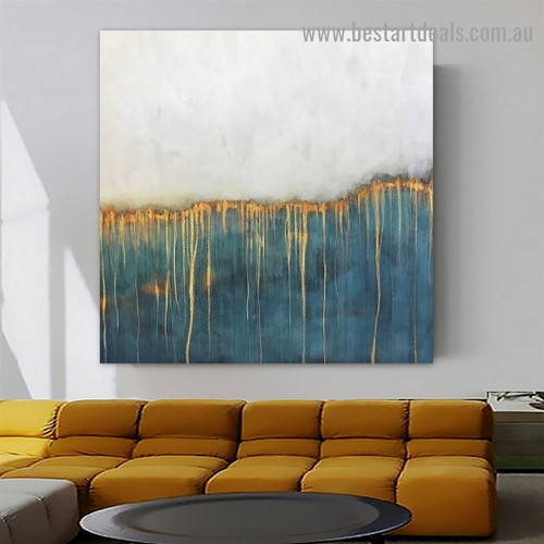Streaks Design Abstract Watercolor Framed Artwork Photo Canvas Print for Room Wall Adornment
