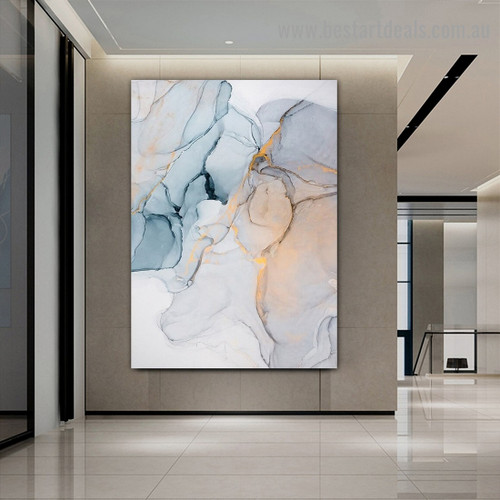 Calico Marble Abstract Modern Framed Portrait Photo Canvas Print for Room Wall Adornment