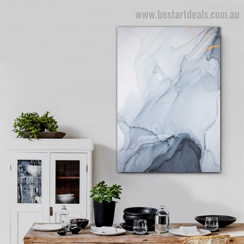 Black White Rock Abstract Modern Framed Portrait Image Canvas Print for Room Wall Decoration