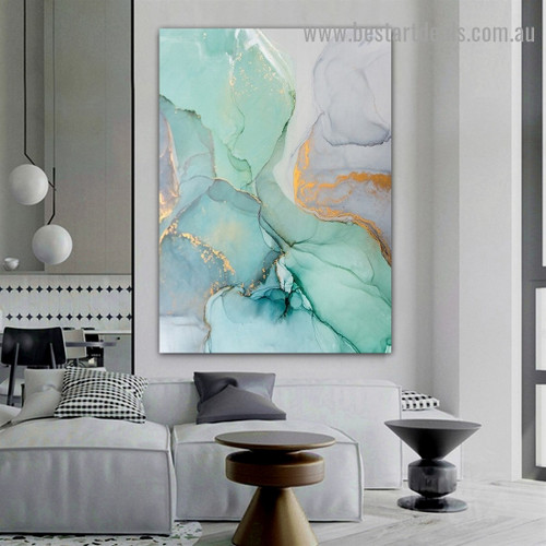 Chromatic Silica Abstract Modern Framed Artwork Picture Canvas Print for Room Wall Garniture