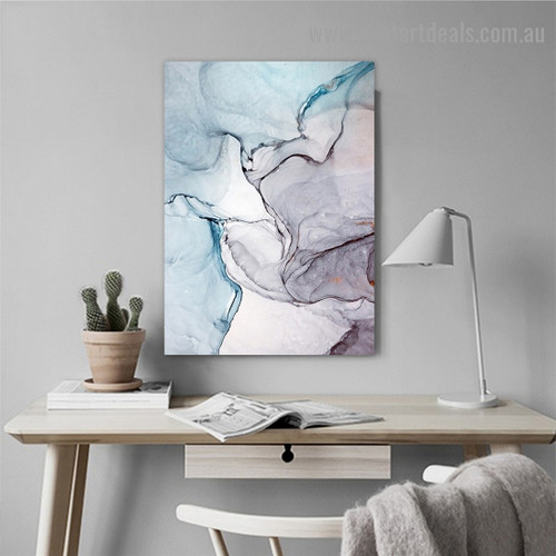 Dapple Hail Abstract Modern Framed Artwork Picture Canvas Print for Room Wall Adornment