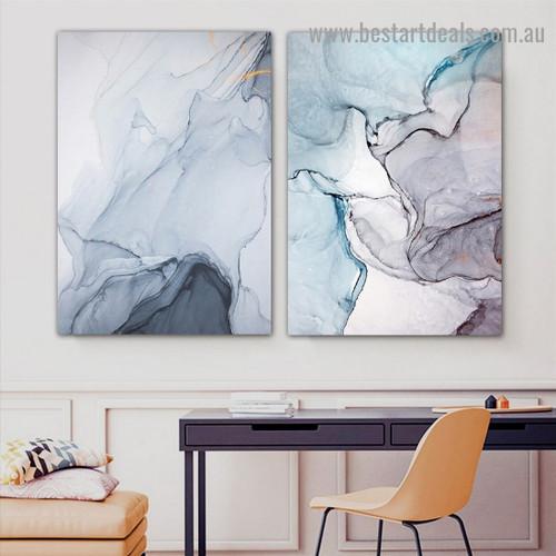Motley Hail Design Abstract Modern Framed Portrait Image Canvas Print for Room Wall Garniture