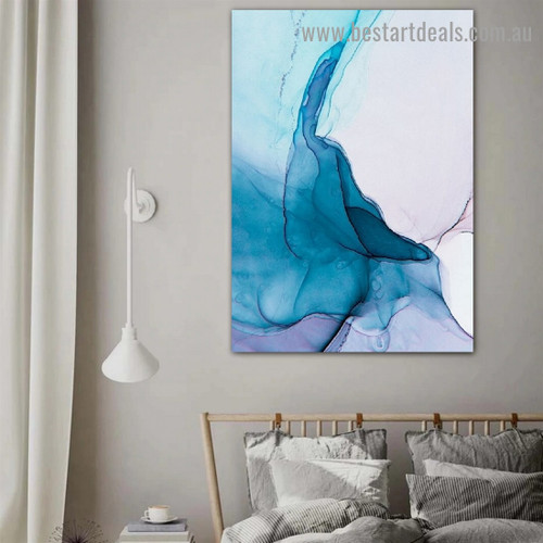 Wiggly Abstract Modern Framed Portrait Image Canvas Print for Room Wall Decoration