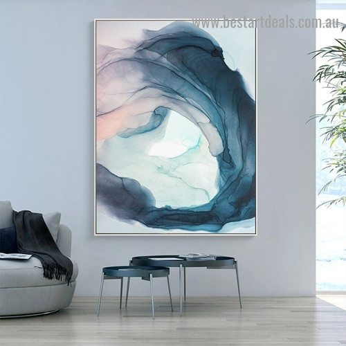 Wandering Abstract Modern Framed Artwork Portrait Canvas Print for Room Wall Flourish