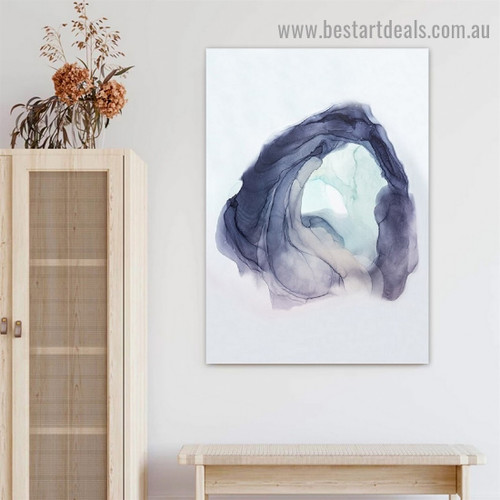 Winding Abstract Modern Framed Portrait Photo Canvas Print for Room Wall Decoration