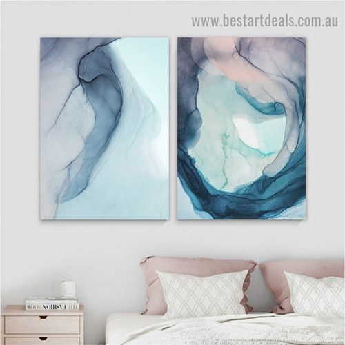 Helicoid Pattern Abstract Modern Framed Portrait Image Canvas Print for Room Wall Adornment