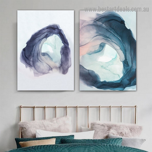 Strolling Pattern Abstract Modern Framed Artwork Picture Canvas Print for Room Wall Garniture