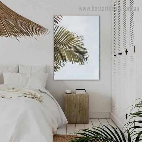 Palm Tree Leaf Botanical Modern Framed Artwork Picture Canvas Print for Room Wall Flourish