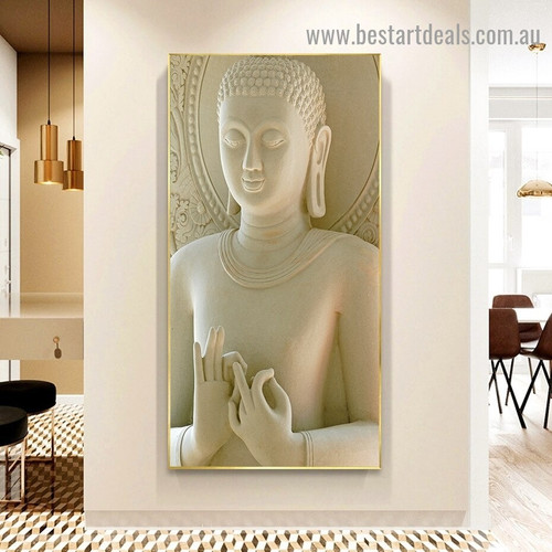 Buddha Statue Religious Modern Framed Artwork Picture Canvas Print for Room Wall Garniture