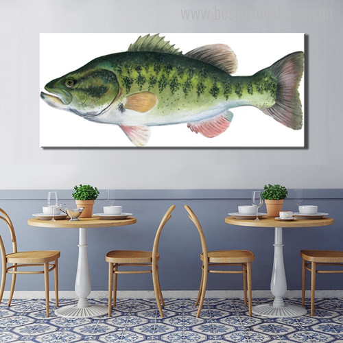 Weever Fish Abstract Animal Large Painting Picture Print for Dining Room Wall Flourish