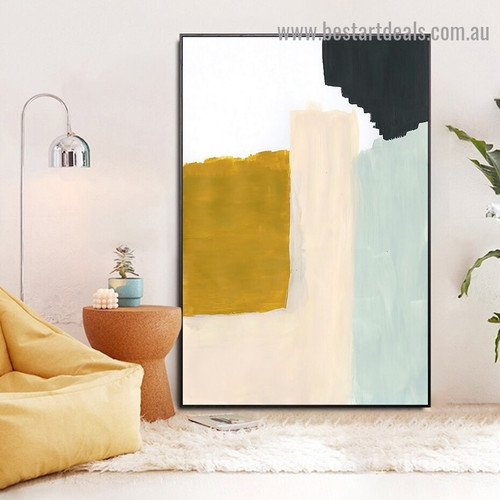 Dapple Brush Marks Abstract Modern Framed Portrait Painting Canvas Print for Room Wall Garniture