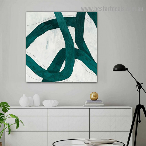 Convoluted Abstract Modern Framed Portrait Painting Canvas Print for Room Wall Adornment