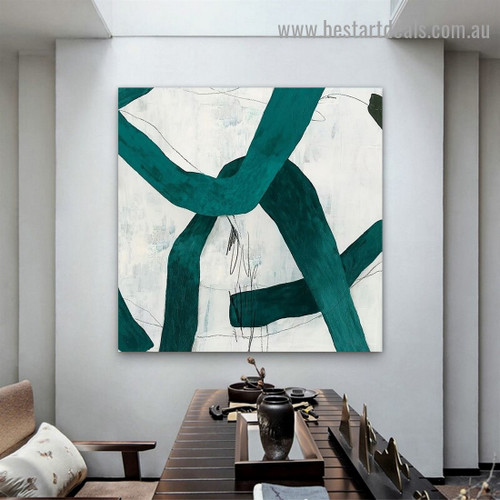 Tortuous Streaks Abstract Modern Framed Artwork Picture Canvas Print for Room Wall Garnish