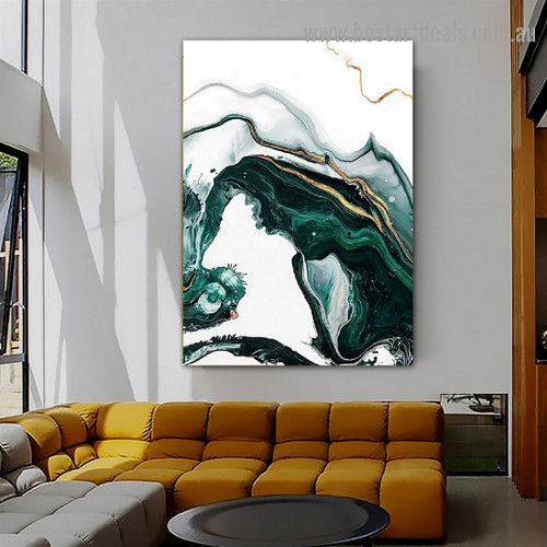 Chromatic Design Rock Abstract Modern Framed Portrait Image Canvas Print for Room Wall Drape