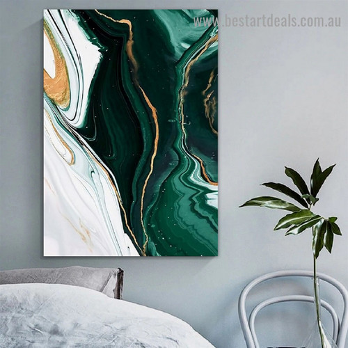Curved Strokes Concrete Abstract Modern Framed Portrait Image Canvas Print for Room Wall Adorn