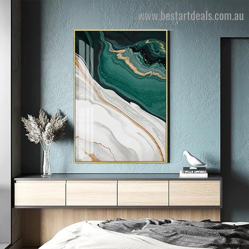 Streaks Design Marble Abstract Modern Framed Artwork Photo Canvas Print for Room Wall Garniture