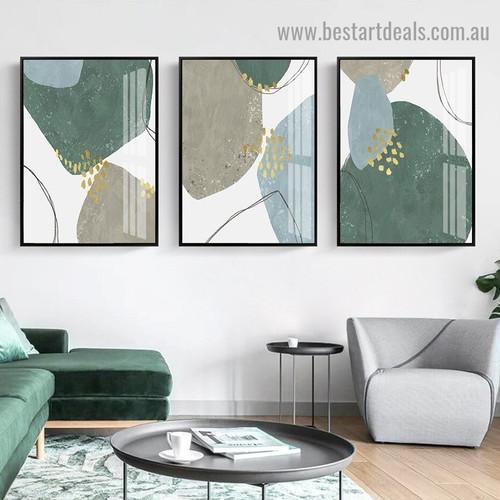 Cabriole Stigma Abstract Modern Framed Artwork Portrait Canvas Print for Room Wall Adorn