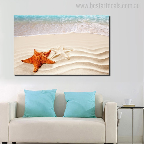 Star Fish Modern Seascape Animal Painting Picture Canvas Print for Living Room Wall Assortment