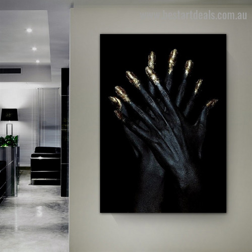 Aesthetic Hands Fashion Modern Framed Portrait Image Canvas Print for Room Wall Ornament