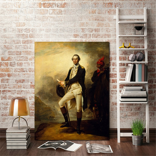 George Washington Vintage Figure Mix Artists Painting Canvas Print for Living Room Wall Drape