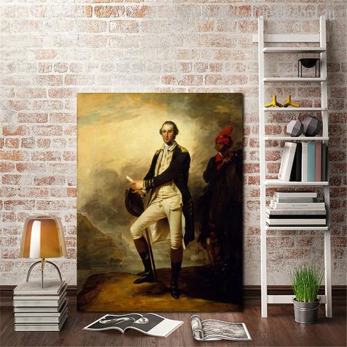 George Washington Vintage Figure Mix Artists Painting Canvas Print for Living Room Wall Drape