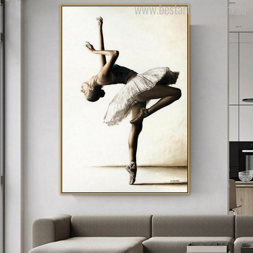 Ballerina Dance Modern Figure Portrait Canvas Print for Wall Molding