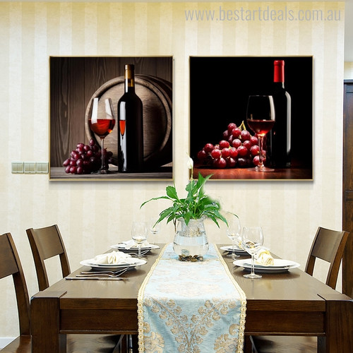 Wine Modern Food and Beverage Picture Print for Dining Room Wall Decor